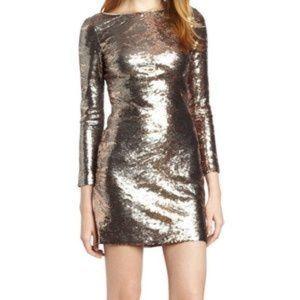 NWT Long Sleeve Sequin Sheath Dress Sz 6